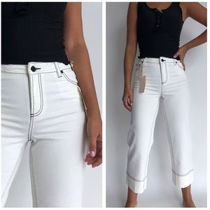 NWT Vince Camuto Cropped Wide Leg Jeans 28